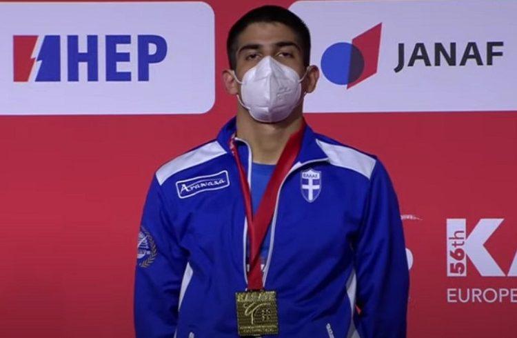 Καράτε: Χρυσό μετάλλιο ο Διονύσης Ξένος στο ευρωπαϊκό