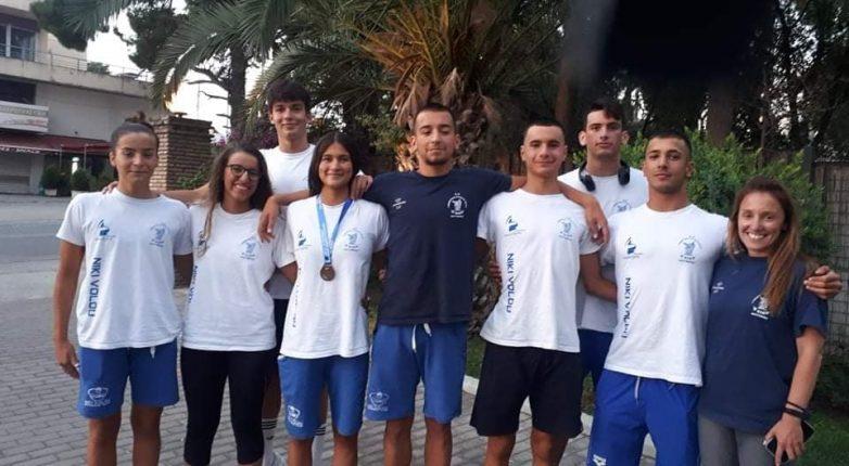 Πέντε τελικοί και ένα χάλκινο μετάλλιο για την κολύμβηση της Νίκης Βόλου