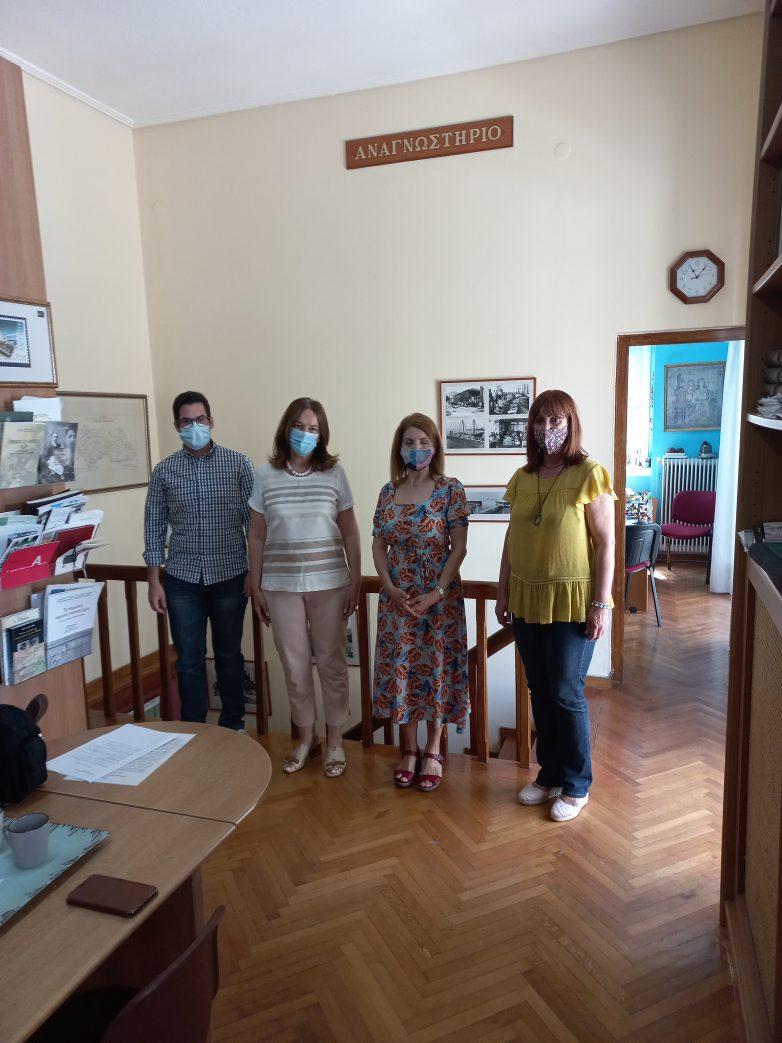 Επίσκεψη Κ.Παπανάτσιου στο παράρτημα των Γενικών Αρχείων του Κράτους Μαγνησίας