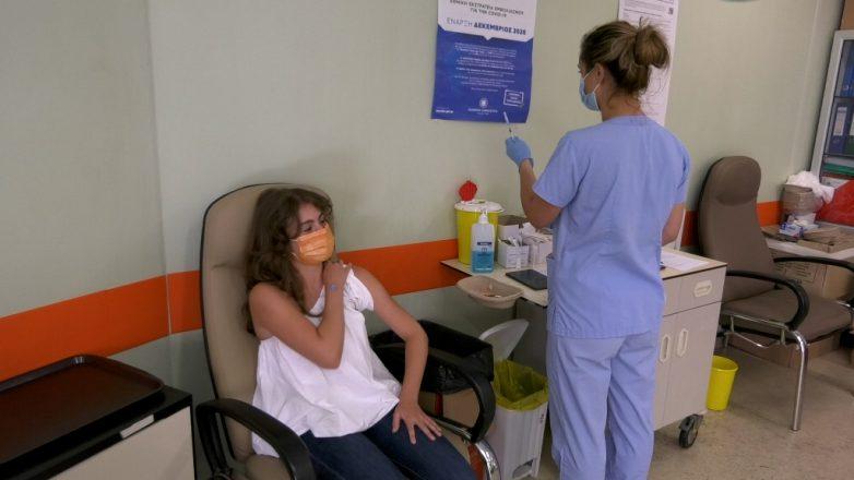 Εμβολιάστηκε η 15χρονη Άρτεμις  Γιαννακοπούλου