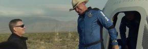 Ο Τζεφ Μπέζος πραγματοποίησε με επιτυχία το πρώτο ταξίδι του στο διάστημα