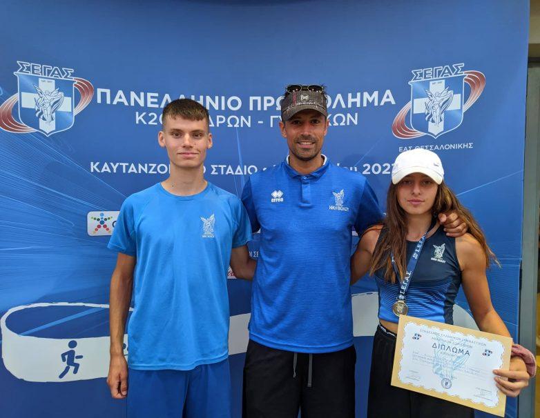 Πανελληνιονίκες δύο αθλητές της Νίκης Βόλου στο Πρωτάθλημα Κ20