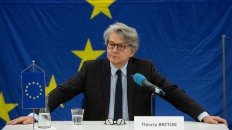 Επίσκεψη του επιτρόπου Ευρωπαϊκής Επιτροπής Τιερί Μπρετόν στην Ελλάδα