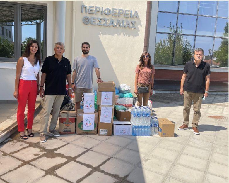 Είδη πρώτης ανάγκης για τους πυρόπληκτους συγκεντρώνει η Περιφέρεια Θεσσαλίας